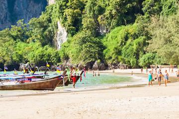 plage de Railay, Krabi, Thaïlande