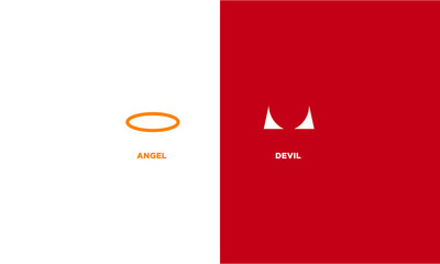 Minimalist Angel And Devil Concept Design