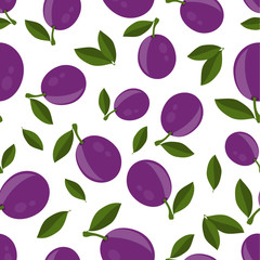 pattern with plums