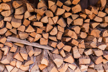 Provision of the stacked firewood