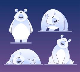 Cute polar bear - modern vector cartoon characters illustration