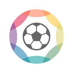 farbiges Icon - Fußball