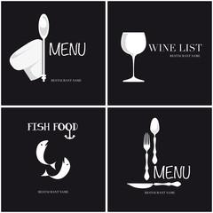 Quattro copertine per il menu
