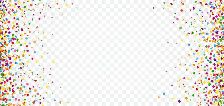 Colored Confetti Transparent Header