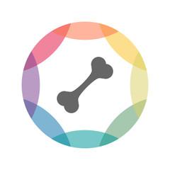 farbiges Icon - Knochen