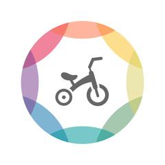 farbiges Icon - Dreirad
