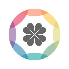 farbiges Icon - Kleeblatt
