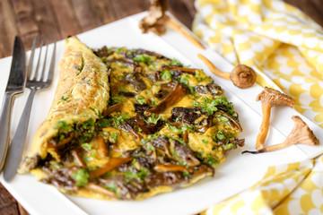omelette aux champignons 3