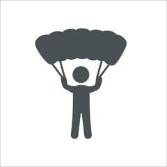Skydiver icon.  Illustration