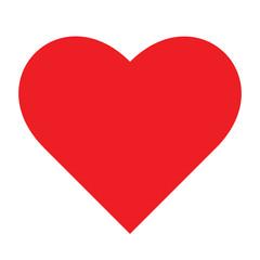 Red heart vecor