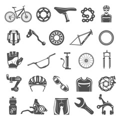 Black Icons - Bicycle Parts and Equipment