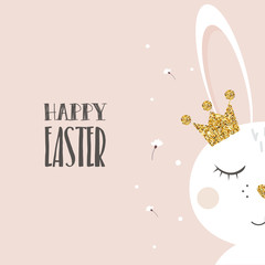 Easter bunny with glitter