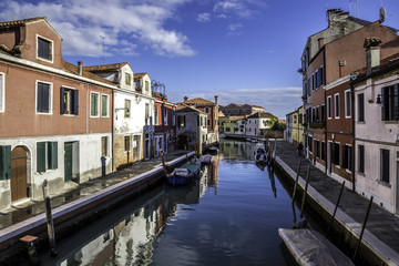 The picturesque island of Murano, famous for producing glass in the Venetian Lagoon on the Adriatic coast