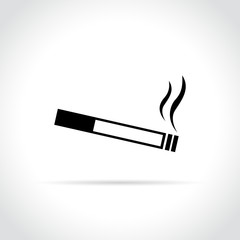 cigarette icon on white background