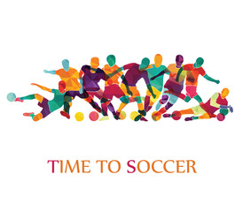 Football (soccer) colorful background. Vector illustration