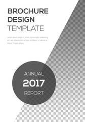 Brochure template design. Modern cover page layout. Awesome trendy poster design. Minimalistic corporate brochure template. Vector illustration on transparent background.