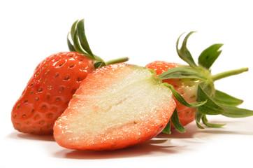 Strawberry fruits isolated
