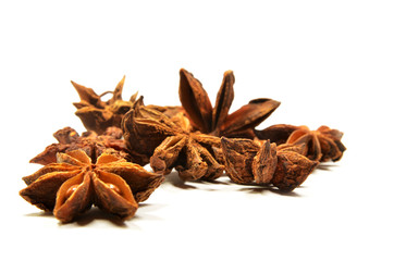 Star anise spice fruit and seeds