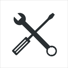Screwdriver icon.  Illustration