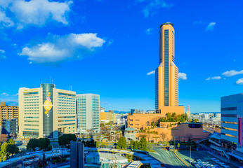 浜松駅前の風景
