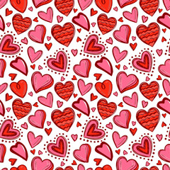 Seamless valentine day pattern