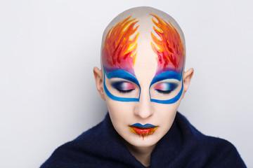 flame art make up