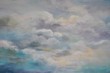 Malarskie tło - niebo i chmury