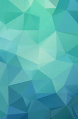 Abstract bright green geometric background, consists of triangles. Polygonal vertical background.