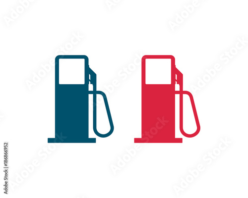 Red And Blue Vector Gas Station Symbol Icon Stock Image And Royalty