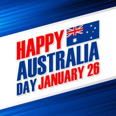 Happy Australia Day, january 26 greeting card. Vector Illustration.