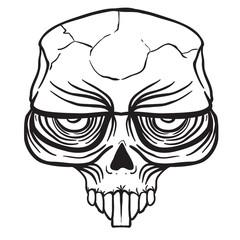 alien skull black
