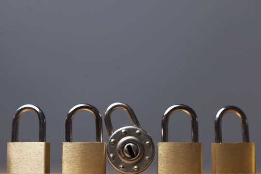Padlock background. Security and safety concept