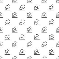 Chart pattern seamless repeat vector illustration for any design