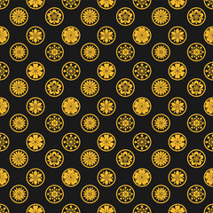 yellow plain flower seamless pattern background vector