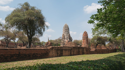 Ayutthaya Thailand - ancient city and historical place. The ruin temple.