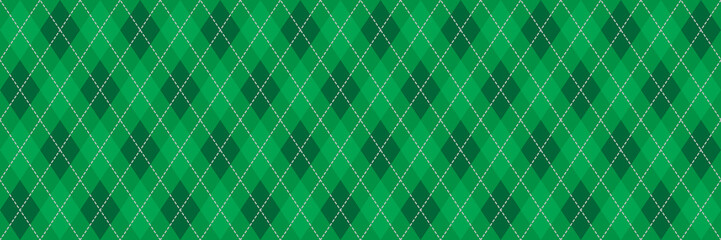 Green Argyle Banner Background