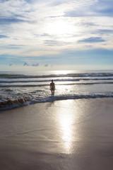 Sri Lanka - Ahungalla - Sunset at the lonely and wonderful beach