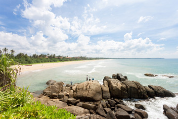 Sri Lanka - Ahungalla - Wild and impressive beach landscape