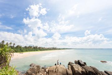 Sri Lanka - Ahungalla - Where natives relax while fishing