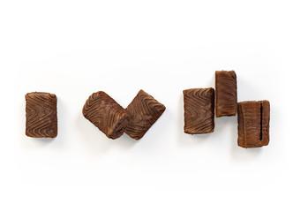 Set of chocolate cookies isolated