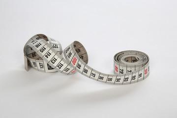 Abgerolltes Zentimetermaß