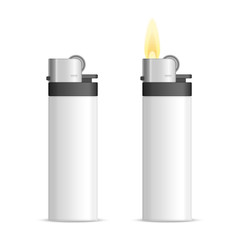 Realistic blank lighter.