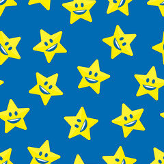 Stars with smile background.