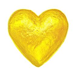 Creative golden heart. Happy Valentine's Day.