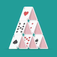 Illustration of house of cards.
