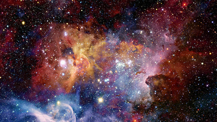 Nebula in deep mysterious space. Elements of this image furnished by NASA