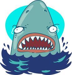 great white shark funny cartoon