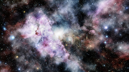 Colorful deep space. Elements of this image furnished by NASA