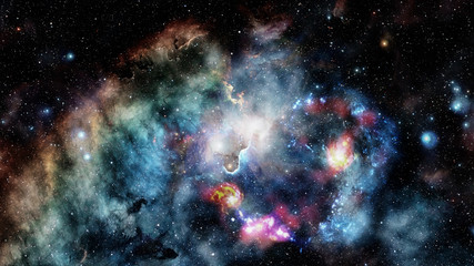 High definition star field background. Elements of this image furnished by NASA.