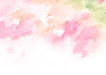 Watercolor abstract hand drawn  background